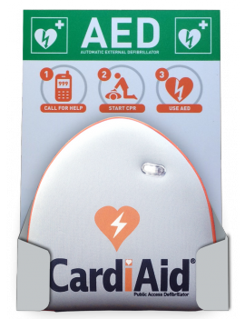 Life Saving Defibrillation Wall bracket with instruction