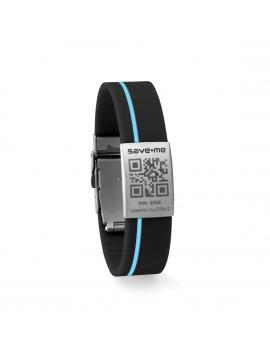 Sport bracelet Black and Azure