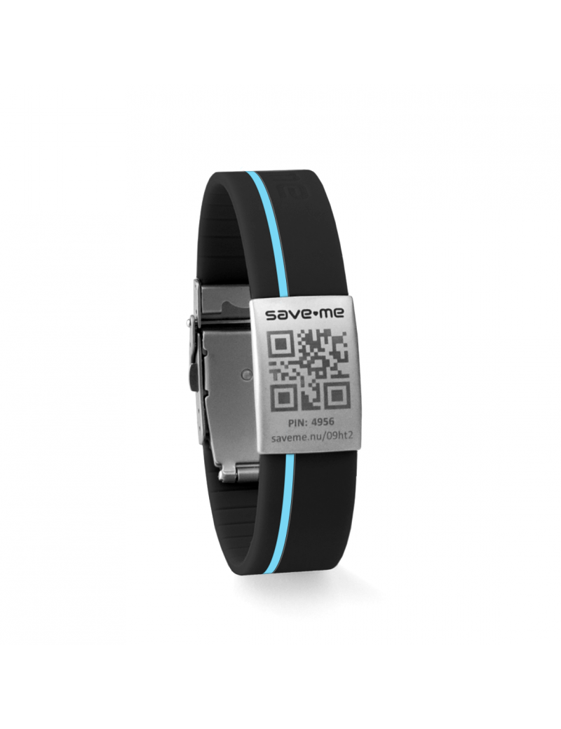 Sport bracelet Black and Azure