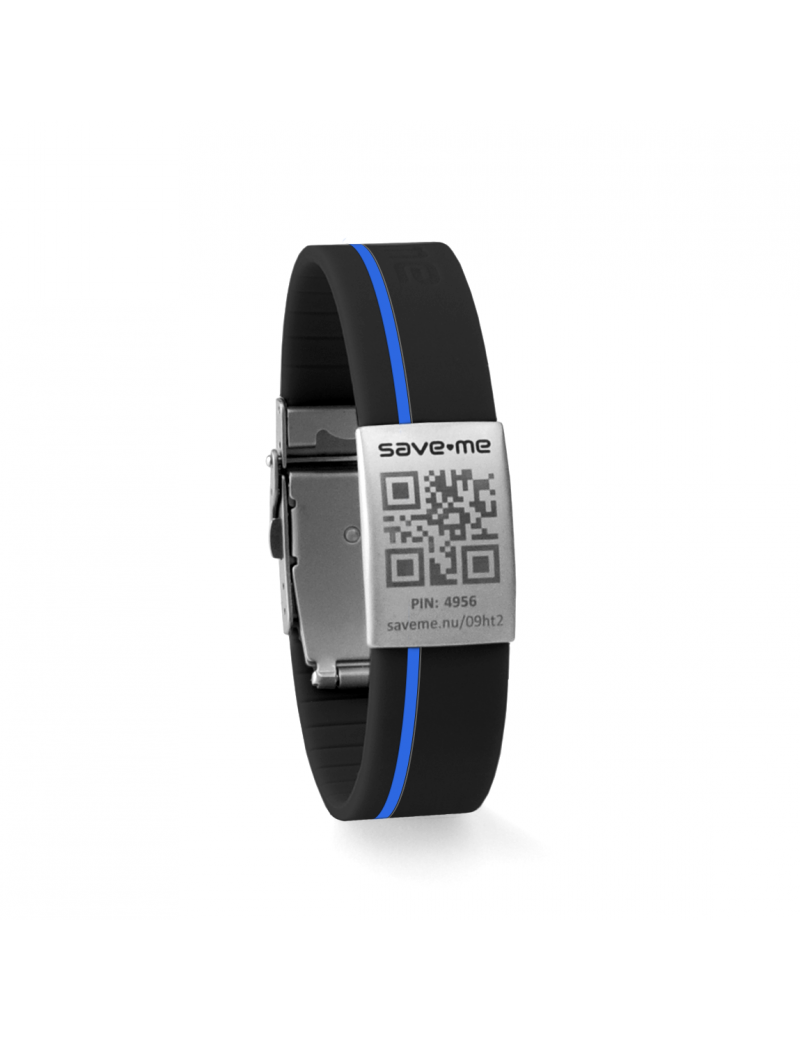 Sport bracelet Black and Blue