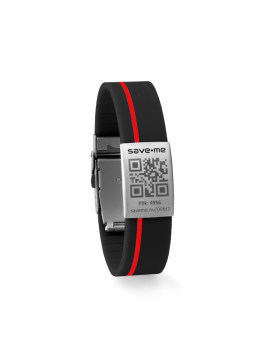 Sport bracelet Black and Red