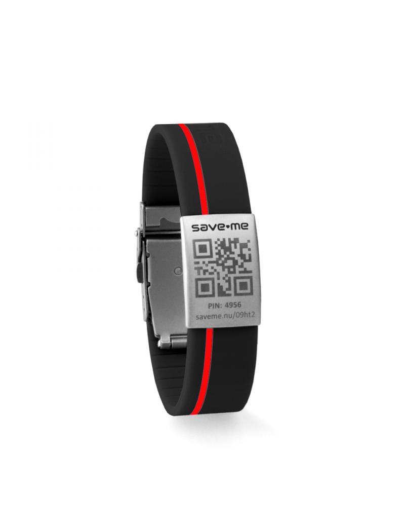 Sport bracelet Black and Red