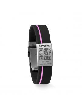 Sport bracelet Black and Pink