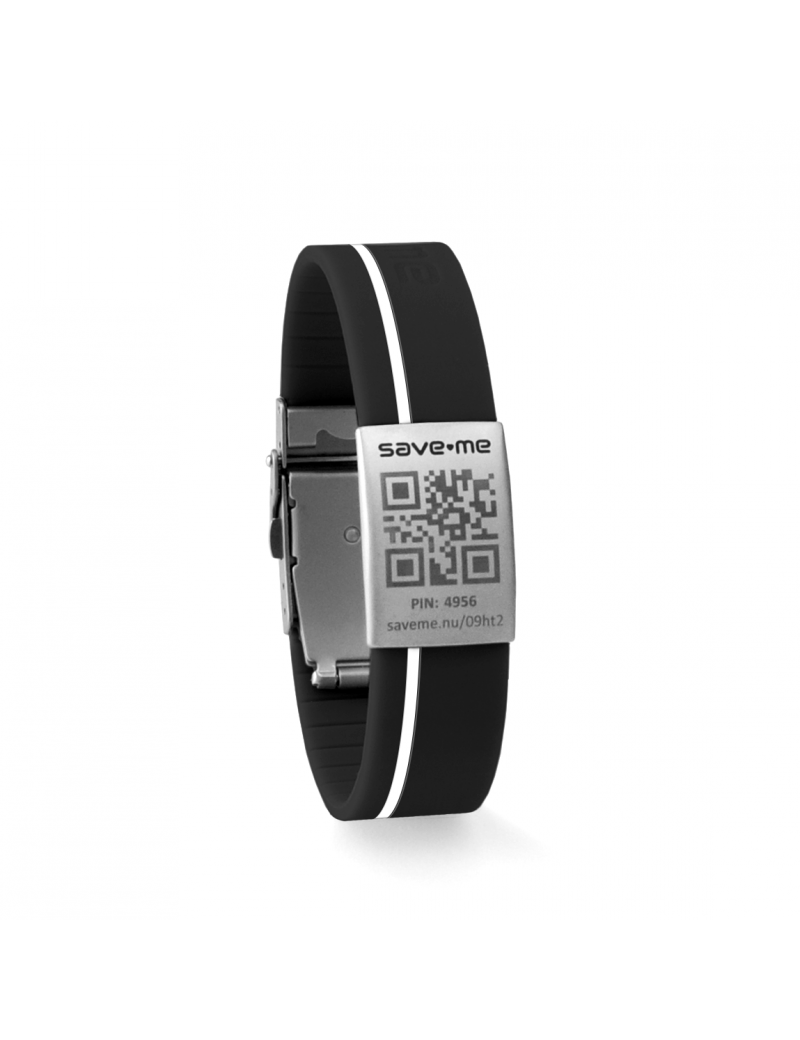 Sport bracelet Black and White